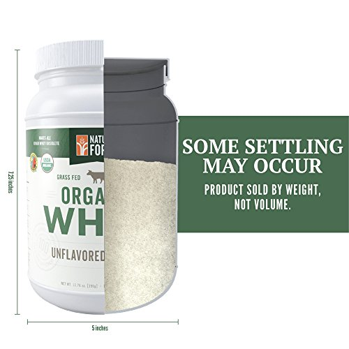 Natural Force® Undenatured Organic Whey Protein Powder *UNFLAVORED* Grass Fed Whey from California Farms – Raw Organic Whey, Paleo, Gluten Free, Natural Whey Protein, 13.76 oz. Bulk by Natural Force (Image #7)'