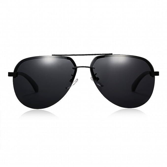 Sonnenbrille Herren Polarisierte Sonnenbrille Oval-Förmige Kröte Linse Objektiv Grau Objektiv Schwarzer Rahmen, Gun Grau Linsenrahmen