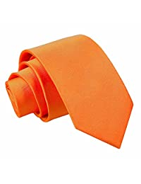 DQT Premium Satin Plain Solid Boy's Classic Tie for 8+ years old - Various Colours
