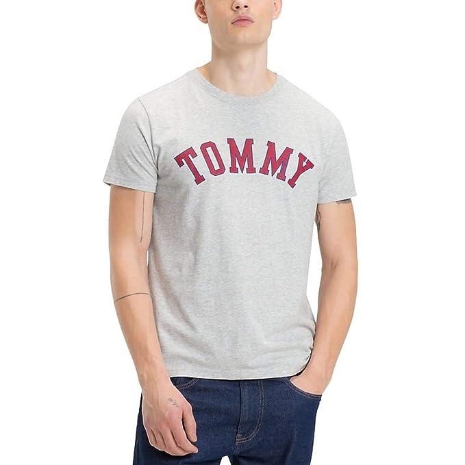 6d5e2fd97080a Tommy Jeans Camiseta Essential Gris  Amazon.es  Ropa y accesorios