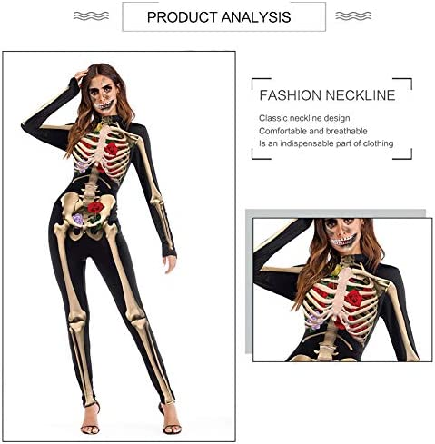 GLOGLOW Mujer exagerada Disfraz de Halloween Mangas largas Mono ...