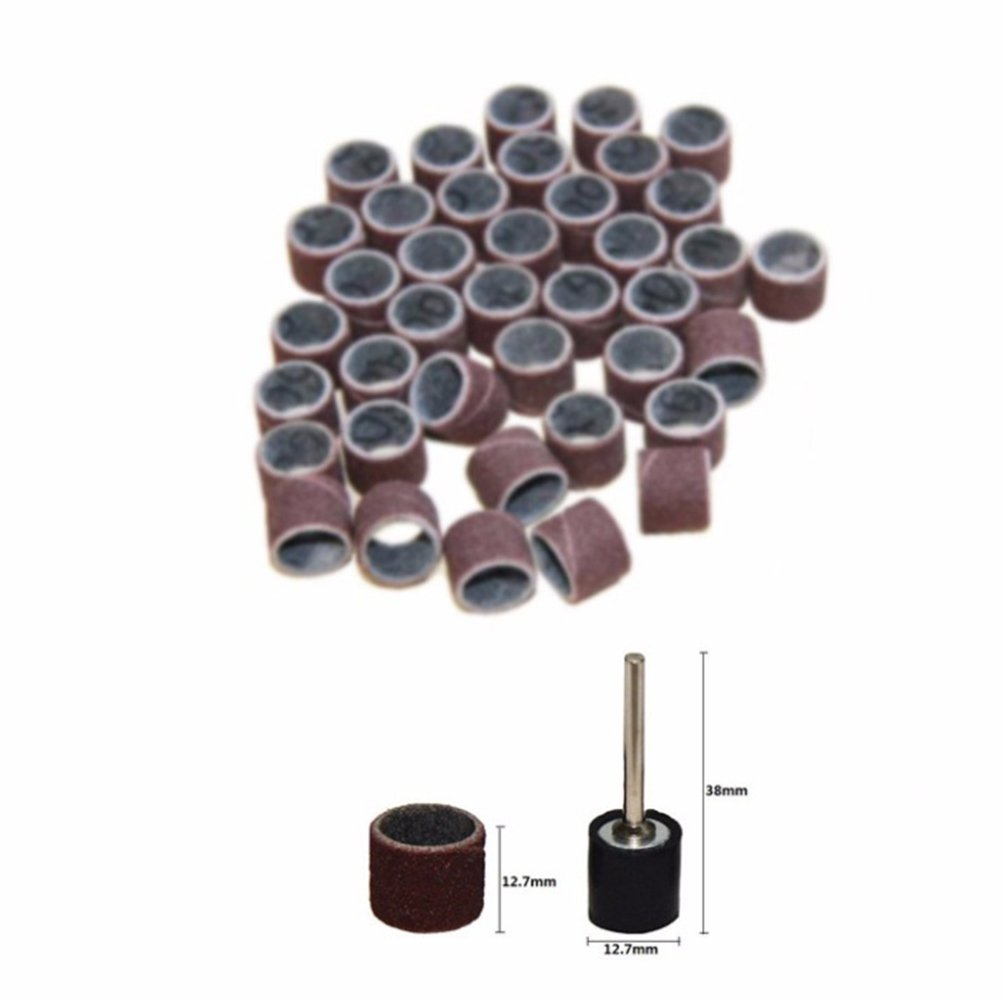 ukcoco 102pcs Drum Sander Sleeves For Sanding Set with Mandrel For Rotary Tool