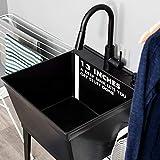 Utility Sink Laundry Tub With High Arc Black