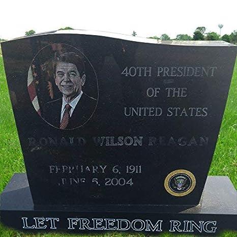 Amazon Com Granite Monument Head Tomb Grave Marker Reagan