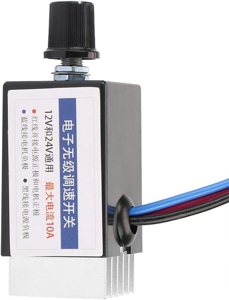 DC Motor Speed Controller for Adjusting Speed of Automobile Fan Heater Defroster Fans Universal 12v//24v DC Rheostat Marine