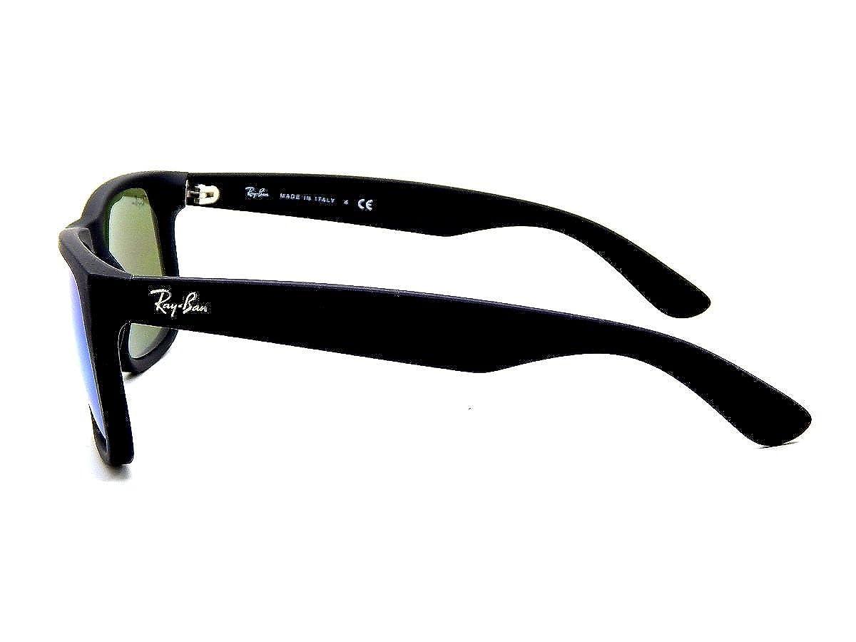 516e6f3fd1 Amazon.com  Ray Ban RB4165 622 55 Black  Blue Mirror 55mm Sunglasses   Clothing