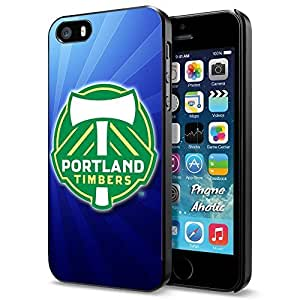 diy zhengSoccer MLS PORTLAND TIMBERS SOCCER CLUB FOOTBALL FC Logo, Cool Ipod Touch 4 4th Smartphone Case Cover Collector iphone Black