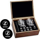 Whiskey Stones and Whiskey Glass Gift Boxed Set - 8