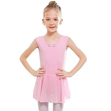 f758f6266 Amazon.com  STELLE Girl s Short Sleeve Tutu Dress Tank Top Leotard ...