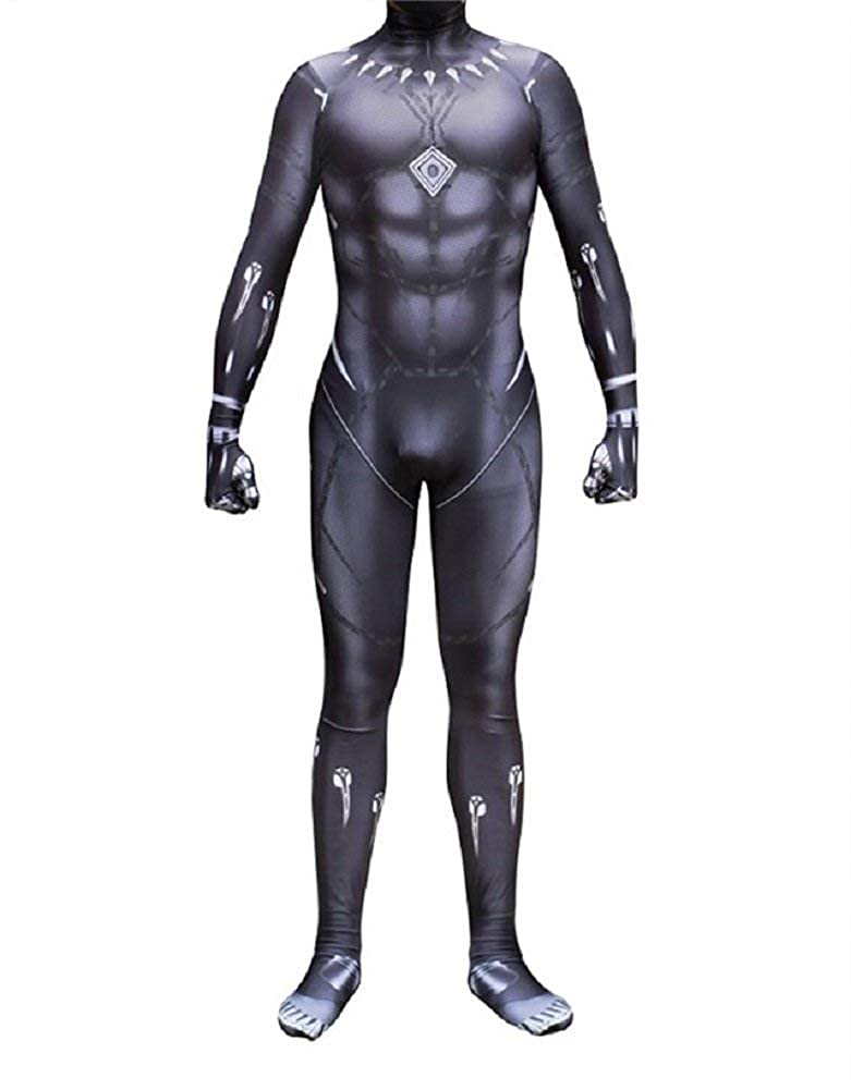 DAELI Black Panther Costume Jumpsuit
