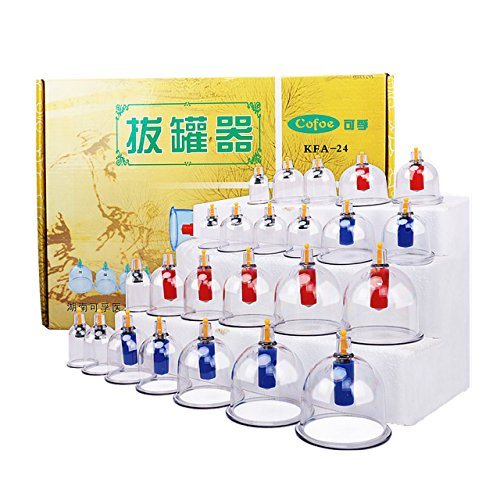 Traditional Chinese Medical Vacuum Body Cupping Device 24pcs