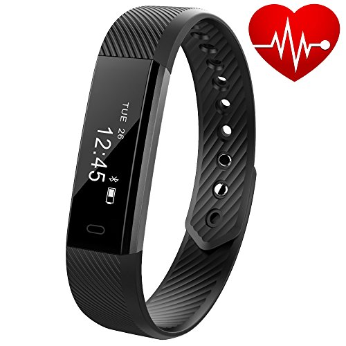 Fitness Tracker with Heart Rate Monitor - Fitness Watch Wireless Bluetooth Activity Tracker Smart Band for Android and iOS