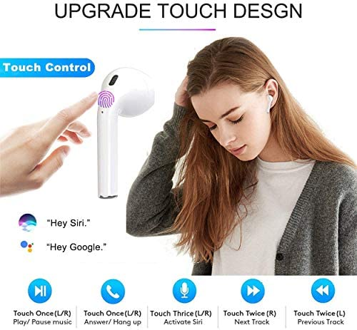 Bluetooth Headphones wireless earbuds Bluetooth 5.0 Noise Cancelling Earbuds Sweatproof HD Stereo Earphones Built-in Microphone with Charging Case for iPhone Apple Android PC ios Airpods ipad Samsun