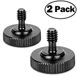 """ChromLives Thumb Screw Camera Quick Release 1/4"""" Thumbscrew L Bracket Screw Mount Adapter with Bottom 1/4""""-20 Female Thread (Pack of 2)"""