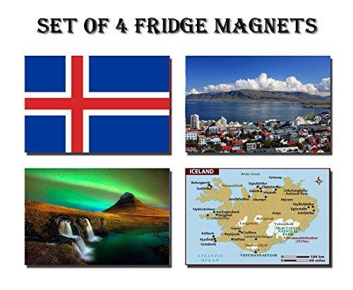 Iceland Landmark Global Travel Illustration Classic Fridge Magnet