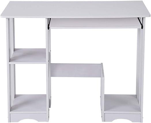 Simple Computer Desk, Desktop Home Computer Desk Modern Minimalist Desk Creative Desk Writing Desk for Home Office Use White