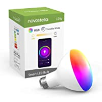 Deals on Novostella WiFi LED Flood Lamp RGB Color Changing 1050LM E26 10W