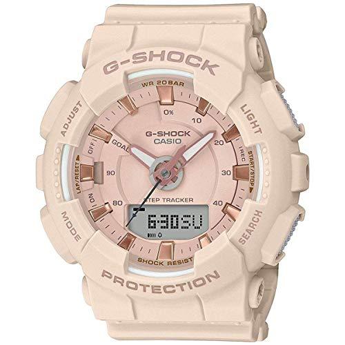 Casio GMAS130PA-4A G-Shock Step Tracker Women s Watch Soft Pink 49.5mm
