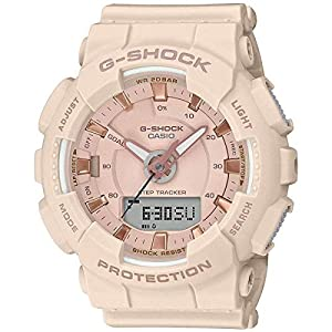 Casio GMAS130PA-4A G-Shock Step Tracker Women's Watch Soft Pink 49.5mm