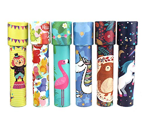 HAPTIME Set of 6 Classic Kaleidoscopes Educational Toys for Kids Children Party Favors Party Bag Fillers