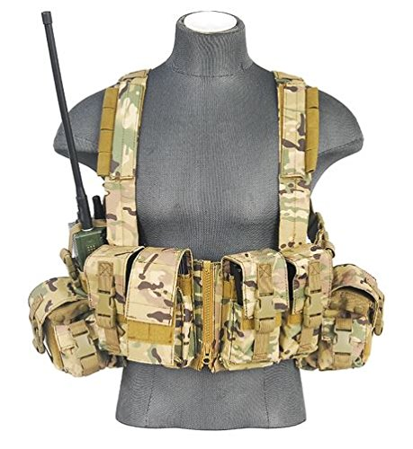 600D Lancer Tactical CA-317 Series T1G Load Bearing Chest Rig (CAMO) by LANCER TACTICAL