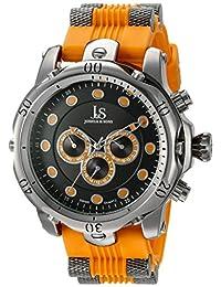 Joshua & Sons Men's JS71OR Analog Display Swiss Quartz Orange Watch