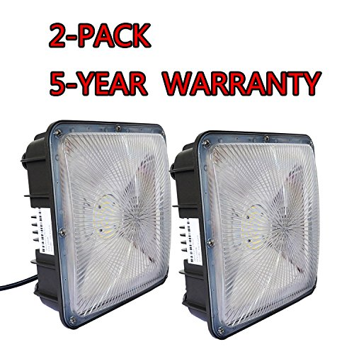 WYZM 2 Pack of 70Watt LED Canopy Light,110V 277V Input,7700LM 300W HPS/HID Canopy Lights Replacement,9.5