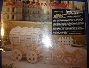 Horse and Carriage (Wooden Model Kit)