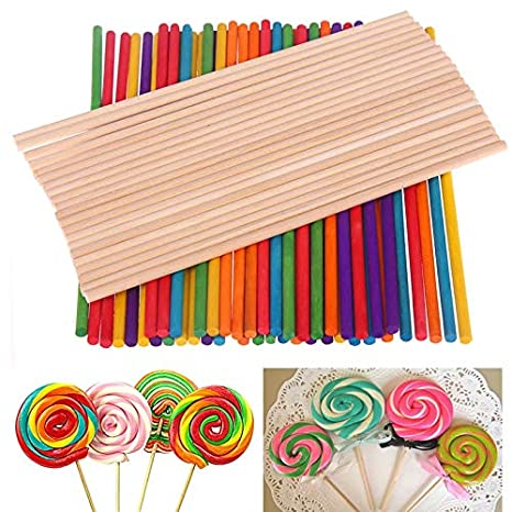 Amazon com: Egg Ice Mold 50/100Pcs Colorful Wood Lollipop