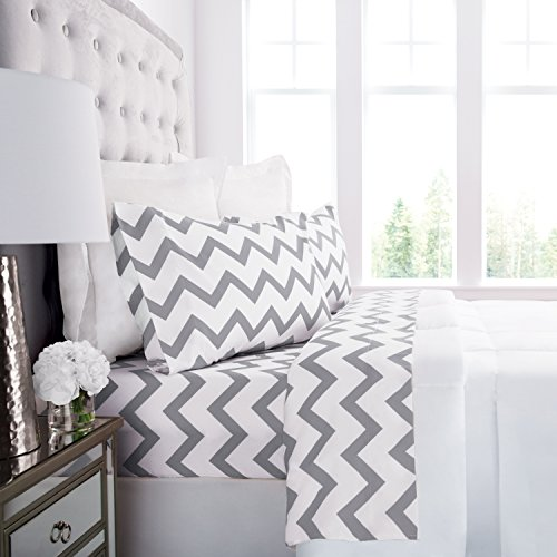 Prestige Linens 1800 Hotel Collection Chevron Pattern Bed Sh