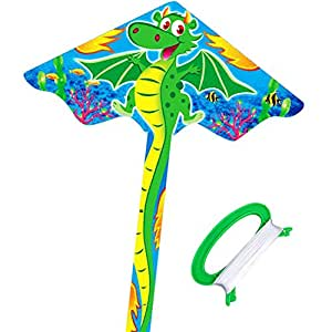 HENGDA KITE- Kites For Kids Children Lovely Cartoon Dragon Kites With Flying Line