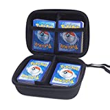 COMECASE Hard Carrying Case Compatible with Pokemon Trading Cards, Card Game Holder Storage Holds Up to 400 Cards. Removable Divider and Hand Strap