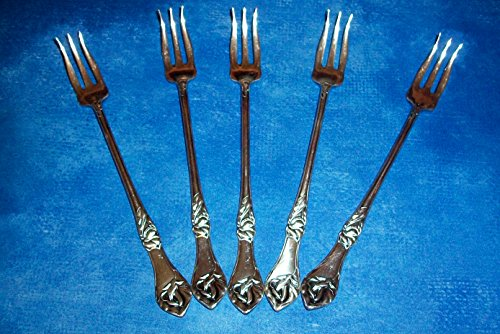 JENNINGS Bros.1890 Sweet Pea Silverplate Cocktail Fork
