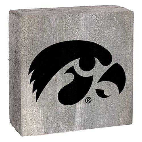 Rustic Marlin NCAA Iowa Hawkeyes Rustic Block with