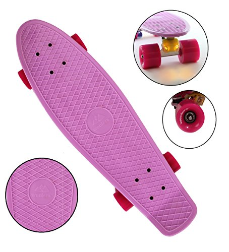 Complete Cruiser Skateboard For Boys And Girls With Super Smooth Pu Wheels, High Speed Bearing, 27