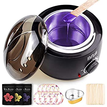 BFULL Wax Warmer (14.2 Oz), Hair Removal Home Waxing Kit with Wax Beans, Sticks, Wax Warmer Collars, Wax Melting Bowls, for Full Body, Legs, Face, Eyebrows, Bikini Women Men Painless at Home Waxing