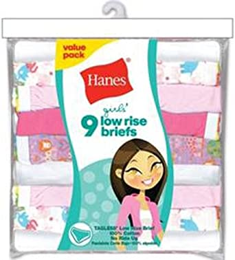 Hanes Girls Low Rise Brief Multipack
