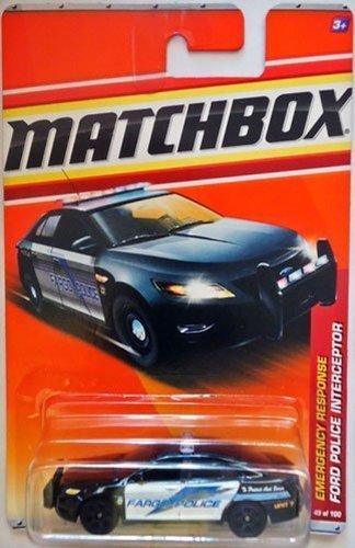 Matchbox 2011 Emergency Response Ford Taurus Police Interceptor FARGO Police