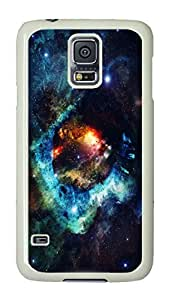 VUTTOO Rugged Samsung Galaxy S5 Case, Exploding Colorful Nebula Space Customize Hard Back Case for Samsung Galaxy S5 I9600 PC White