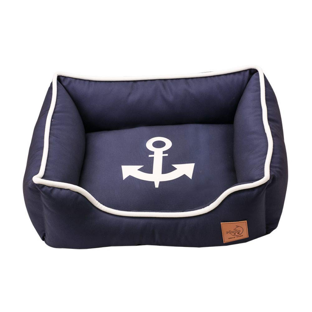 Anchor 48x40x18cm Mediterranean Washable Detachable Dog Cat Bed Sea Anchor Dog Kennel Soft House Dog Product for Small Medium Dogs