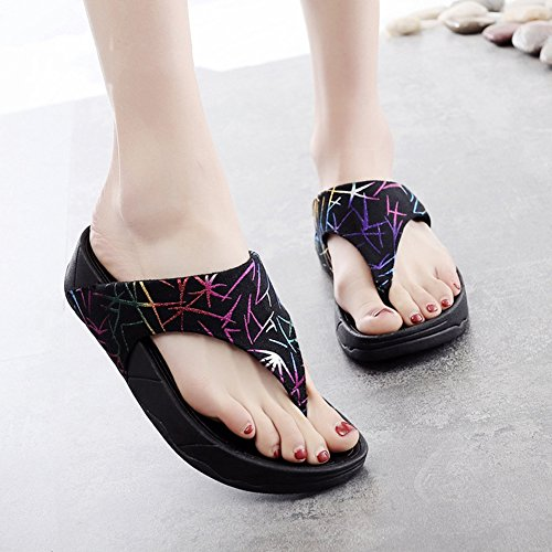 Sandales Mode De Plein Pantoufles Plage Estivale Bohême eu3637 Air Chaussures 001 Fond Zhang2 Glissement 40 Confortable Uk Usure Saison En Eu Mou 7 Femme Tw0Zqx6a