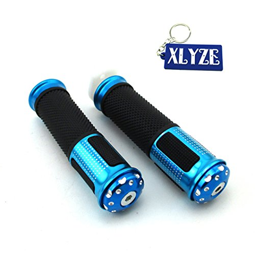 XLYZE Blue 22mm 7/8' Aluminum Twist Throttle Handle Grips for 50cc 60cc...