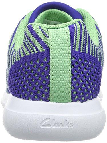 Clarks SprintKnit Jnr Mädchen Sneakers Violett (Purple Combi)