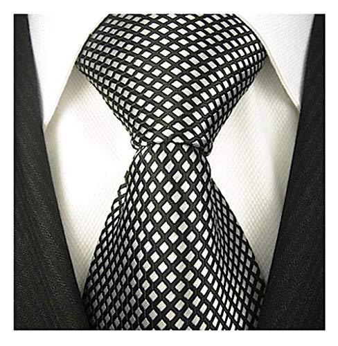 (Neckties By Scott Allan - Black and Silver Neckties (Diamond))