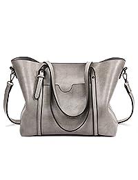 a259c718c9 SIFINI Women Fashion Top Handle Satchel Handbags Shoulder Bag Tote Purse  Crossbody Bag