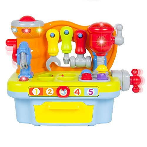 Best Choice Products Musical Learning Pretend Play Tool Workbench Toy, Fun Sound Effects & Lights New for your child's imaginary (Paramedic Costume)