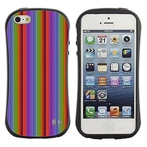 DesignCase Premium TPU / ABS Hybrid Back Case Cover Apple iPhone 5 / 5S ( vertical line )