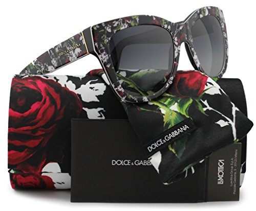 Dolce & Gabbana DG4270 Sunglasses Top Print Rose/Black w/Grey Gradient (3019/8G) DG 4270 30198G 55mm Authentic by Dolce & Gabbana (Image #1)
