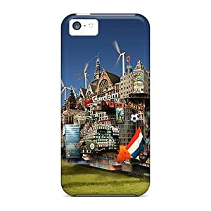 Durable Protector Case Cover With Cruise Ship Hot Design For Iphone 5c