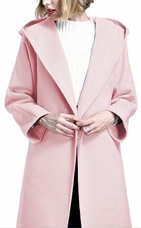 e4e8e98fdec CBTLVSN Womens Stylish Hoodies Buttonless Belted Design Woolen Wrap Coat 1  XS